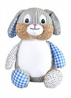 Personalised Cubbies Harlequin Bunny Blue